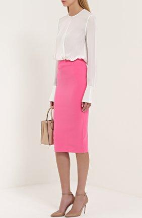 Женская кожаные туфли lucy 100 на шпильке JIMMY CHOO бежевого цвета, арт. LUCY 100/KID | Фото 2