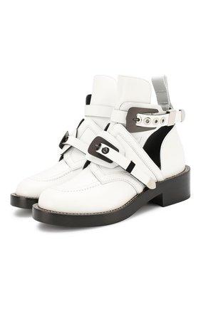 Кожаные ботинки Creepers с ремешками | Фото №1