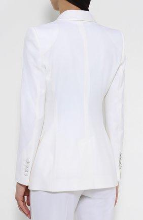 Двубортный приталенный жакет с карманами   Фото №4