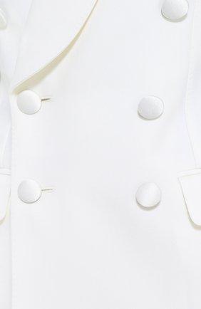 Двубортный приталенный жакет с карманами   Фото №5