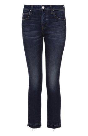 Укороченные расклешенные джинсы с бахромой | Фото №1