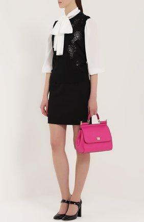 Мини-юбка с широким поясом Dolce & Gabbana черная | Фото №2