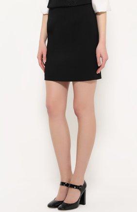 Мини-юбка с широким поясом Dolce & Gabbana черная | Фото №3