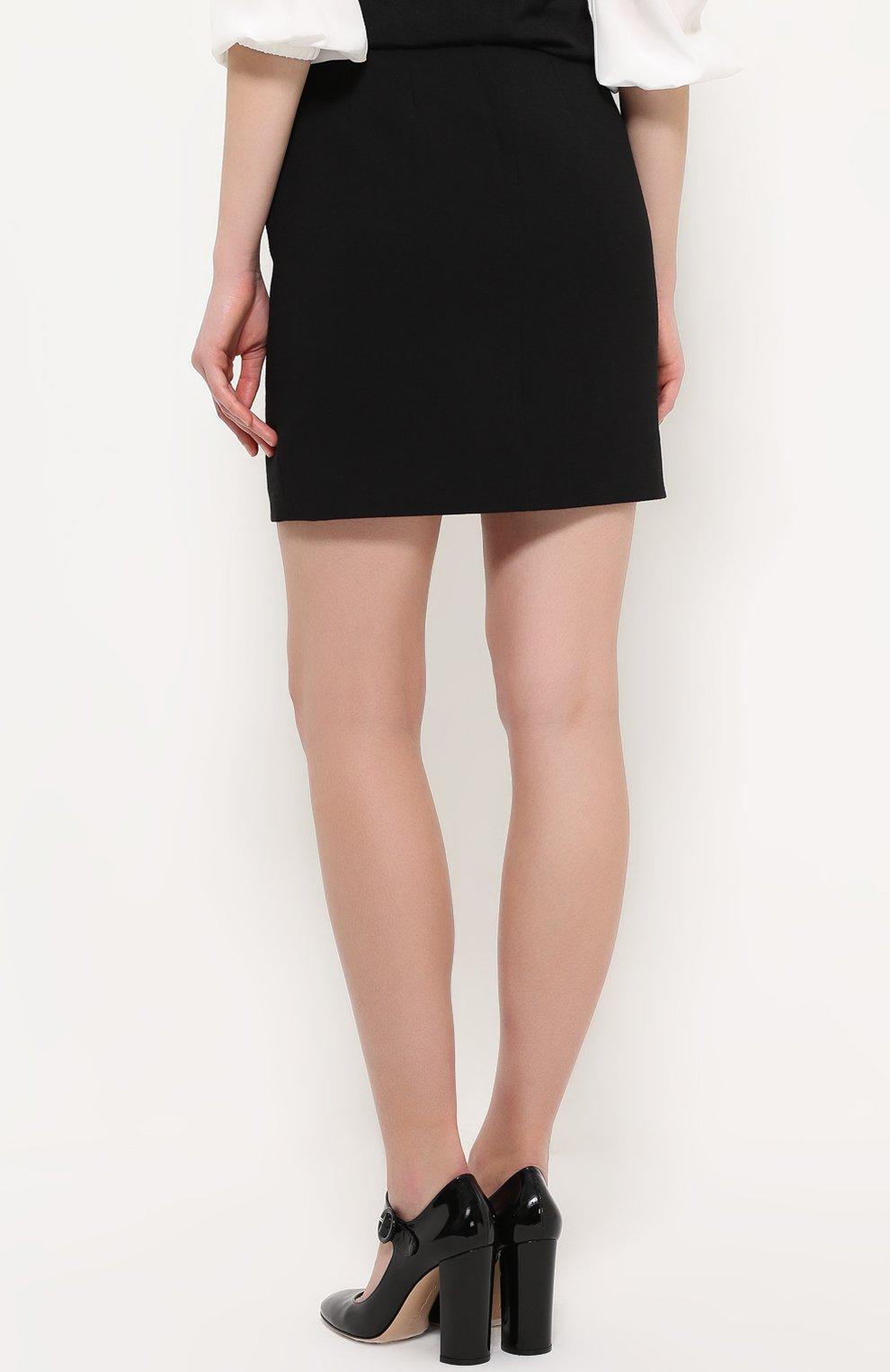 Мини-юбка с широким поясом Dolce & Gabbana черная | Фото №4