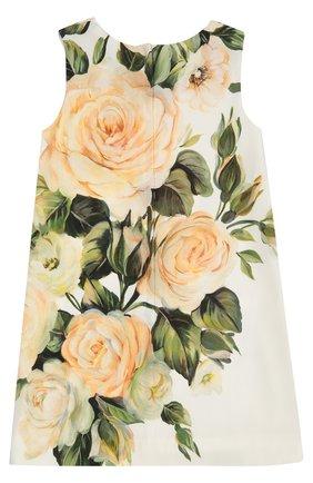 Детское платье без рукавов с цветочным принтом Dolce & Gabbana разноцветного цвета   Фото №2