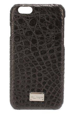 Чехол для iPhone 6/6S из кожи крокодила Dolce & Gabbana  | Фото №1