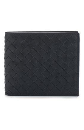 Мужской кожаное портмоне BOTTEGA VENETA темно-синего цвета, арт. 113993/V4651 | Фото 1