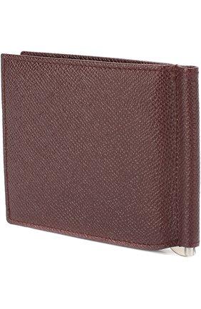 Мужской кожаный зажим для денег DOLCE & GABBANA бордового цвета, арт. 0115/BP1920/A1001 | Фото 2
