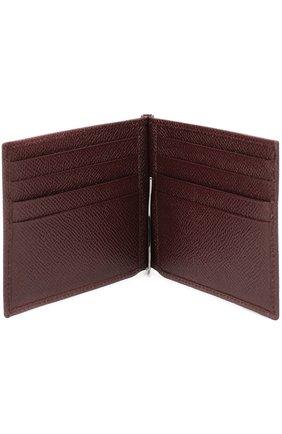 Кожаный зажим для денег Dolce & Gabbana бордового цвета | Фото №3