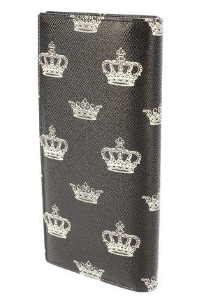 Кожаный бумажник с отделением для кредитных карт Dolce & Gabbana черного цвета | Фото №2