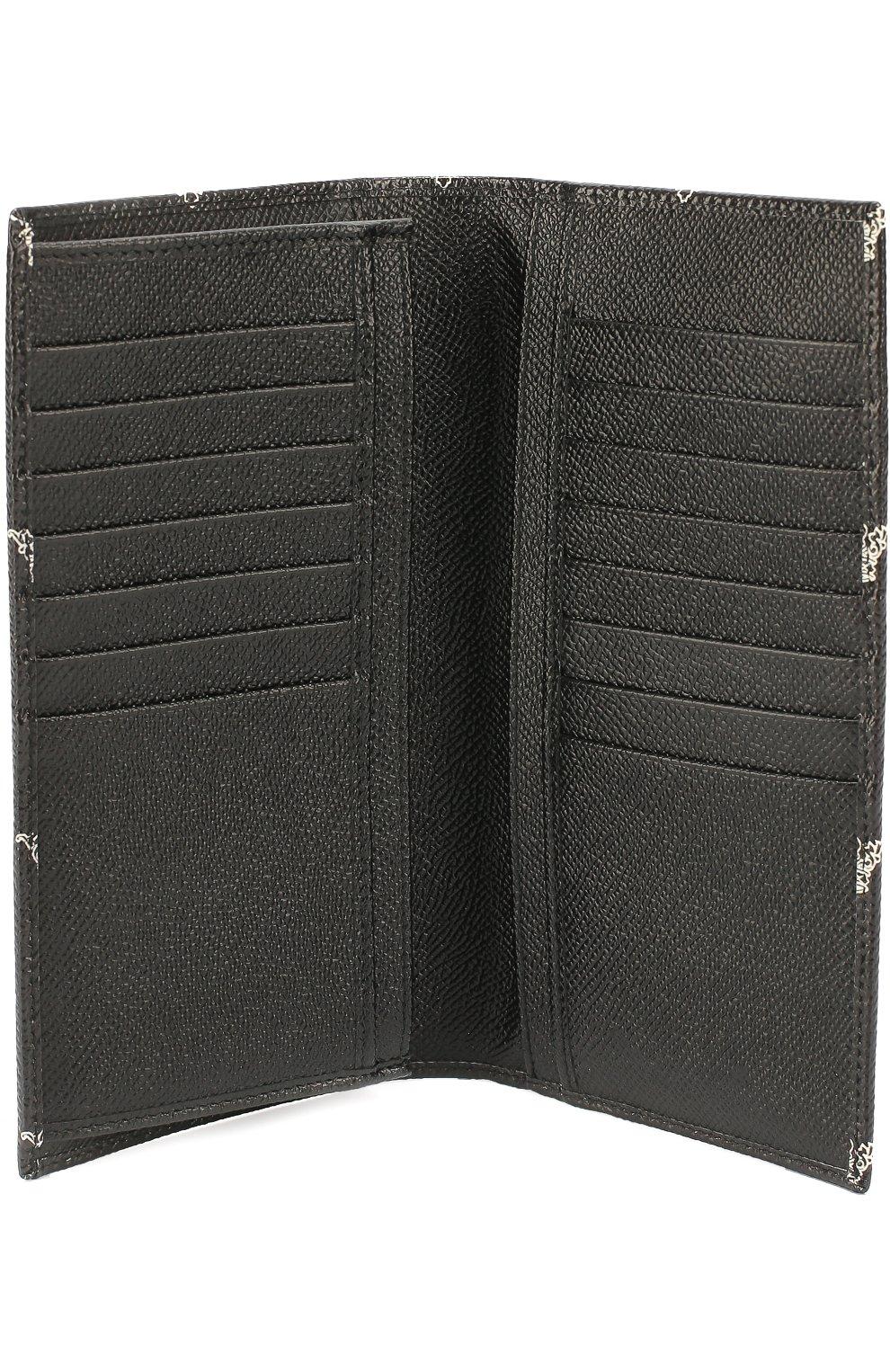 Кожаный бумажник с отделением для кредитных карт Dolce & Gabbana черного цвета | Фото №3