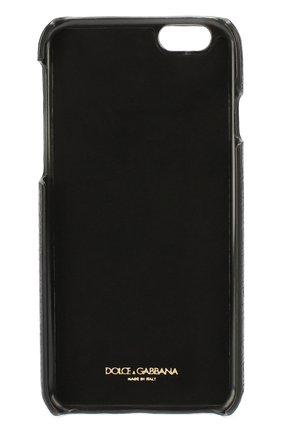 Кожаный чехол для iPhone 6/6S с аппликацией Dolce & Gabbana    Фото №2