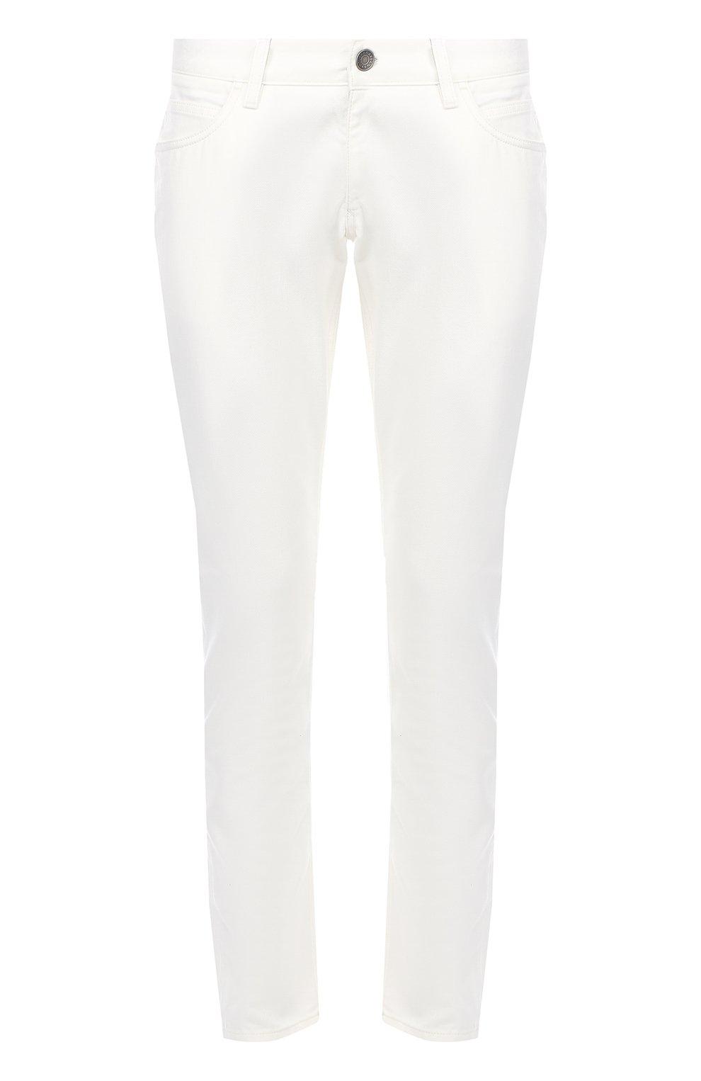 Зауженные джинсы с вышивкой на заднем кармане | Фото №1