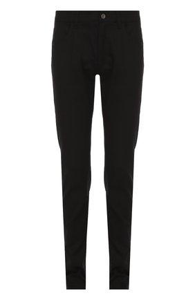 Хлопковые джинсы с заниженной линией шага Dolce & Gabbana черные | Фото №1