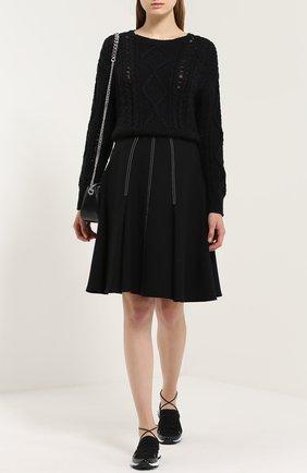 Укороченный хлопковый пуловер крупной вязки Denim&Supply by Ralph Lauren черный   Фото №1