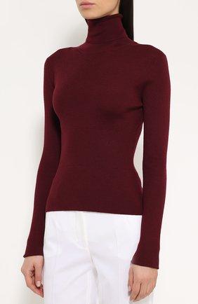 Кашемировая водолазка фактурной вязки Dolce & Gabbana бордовая   Фото №3