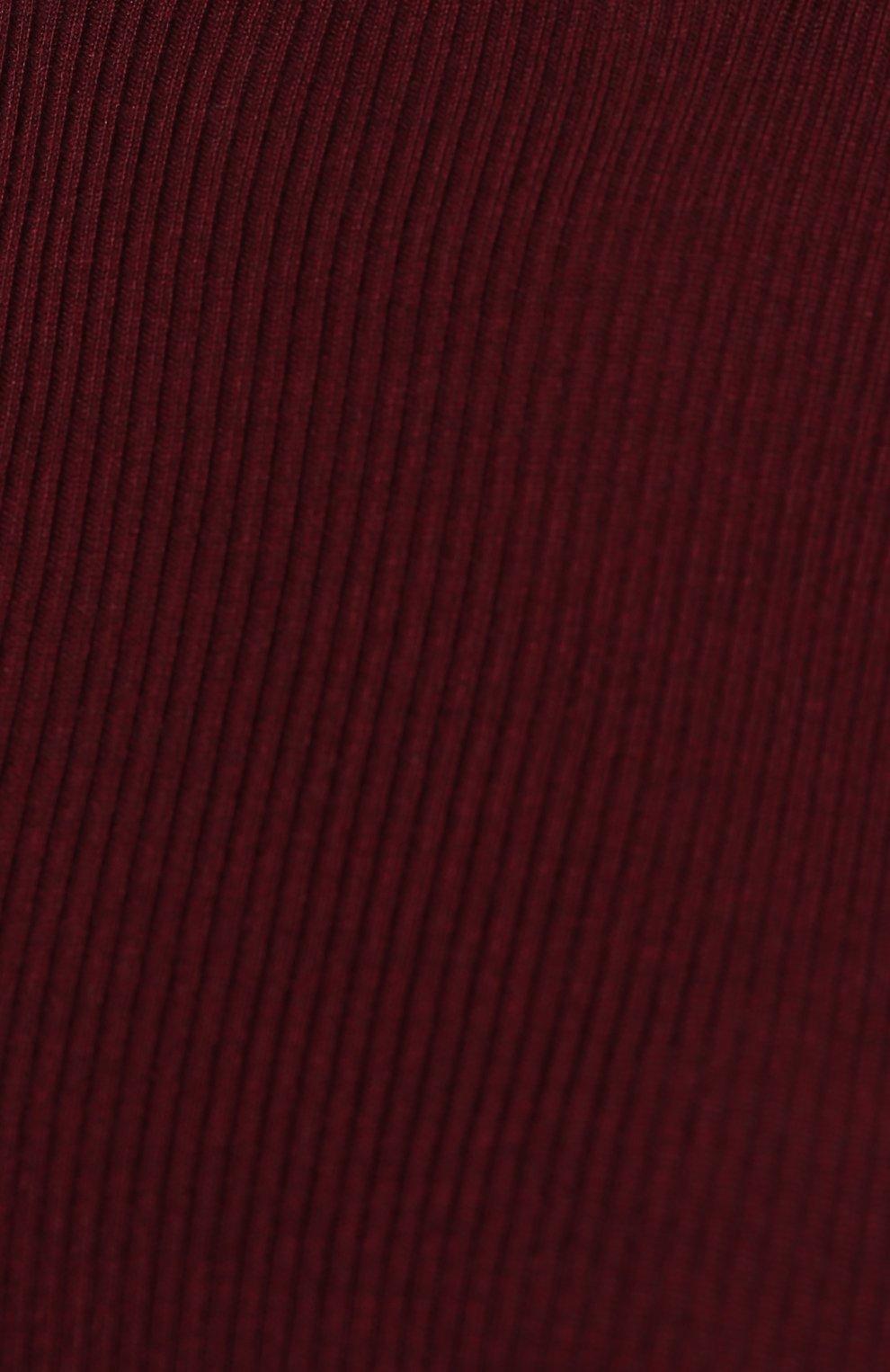 Кашемировая водолазка фактурной вязки Dolce & Gabbana бордовая   Фото №5