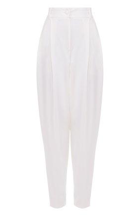 Укороченные брюки-бананы с защипами Dolce & Gabbana белые   Фото №1