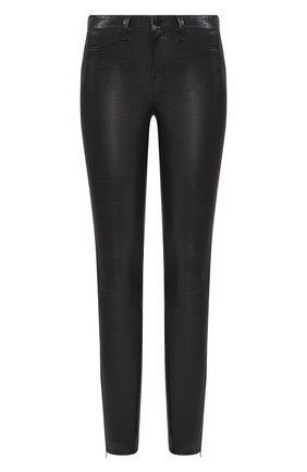 Женские кожаные брюки J BRAND черного цвета, арт. L8001/G | Фото 1