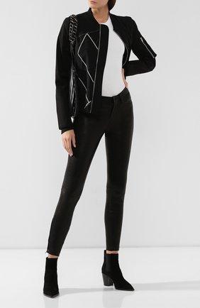 Женские кожаные брюки J BRAND черного цвета, арт. L8001/G | Фото 2