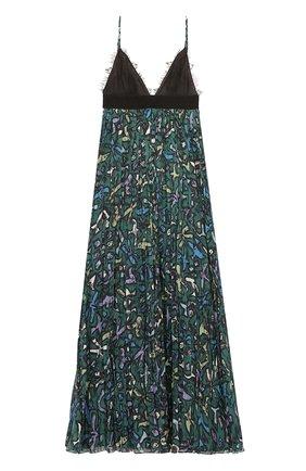 Платье на бретельках с завышенной талией и плиссированной юбкой | Фото №1