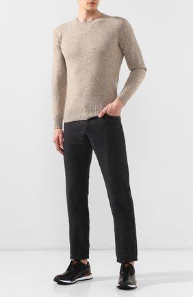 Мужские кожаные кроссовки BERLUTI черного цвета, арт. S3875-001 | Фото 2