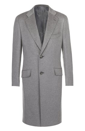 Однобортное пальто из смеси шерсти и кашемира | Фото №1