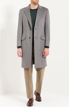 Однобортное пальто из смеси шерсти и кашемира | Фото №2