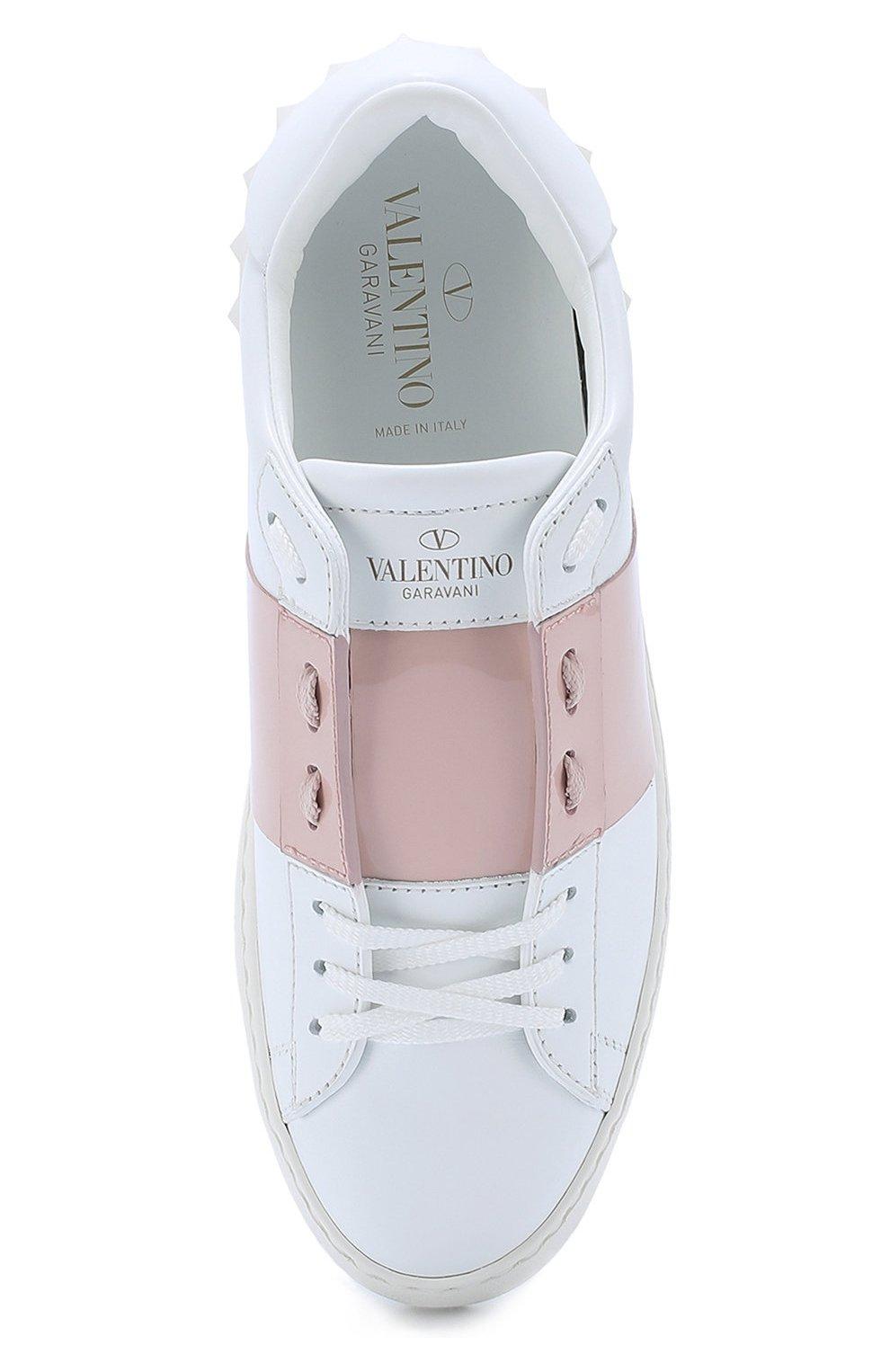 478c1c1c7443 Кожаные кроссовки Valentino Garavani Open с лаковой цветной вставкой   Фото  №5