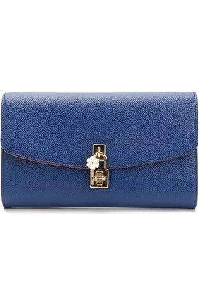 Клатч Dolce на цепочке Dolce & Gabbana синего цвета | Фото №1