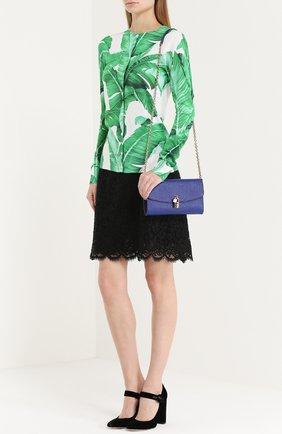 Клатч Dolce на цепочке Dolce & Gabbana синего цвета | Фото №2