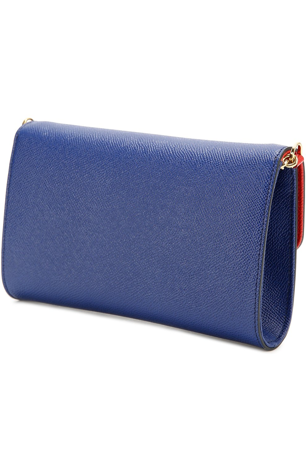 Клатч Dolce на цепочке Dolce & Gabbana синего цвета | Фото №3