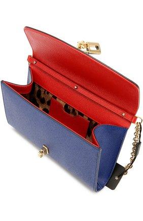 Клатч Dolce на цепочке Dolce & Gabbana синего цвета | Фото №4
