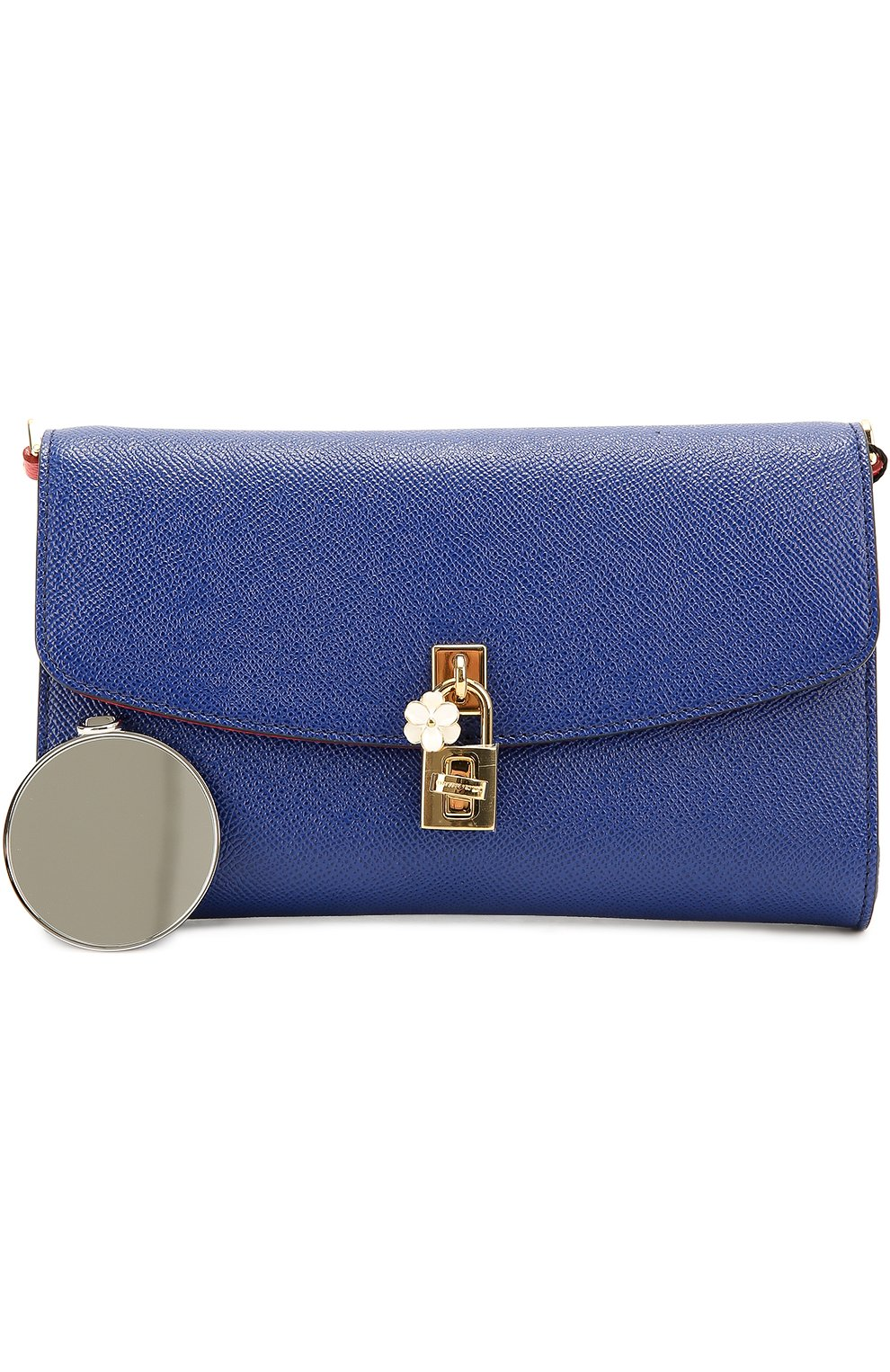 Клатч Dolce на цепочке Dolce & Gabbana синего цвета | Фото №5