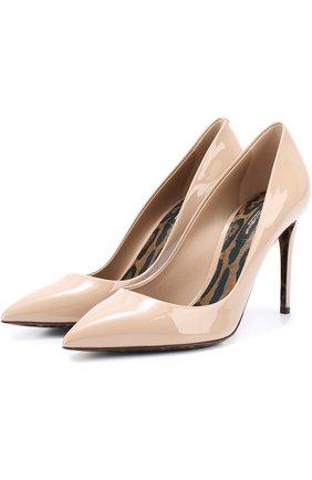 Кожаные туфли Kate Dolce & Gabbana бежевые   Фото №1