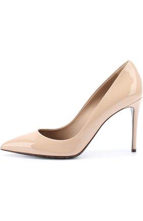 Кожаные туфли Kate Dolce & Gabbana бежевые   Фото №2