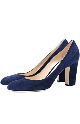 Замшевые туфли Billie 85 на устойчивом каблуке | Фото №1