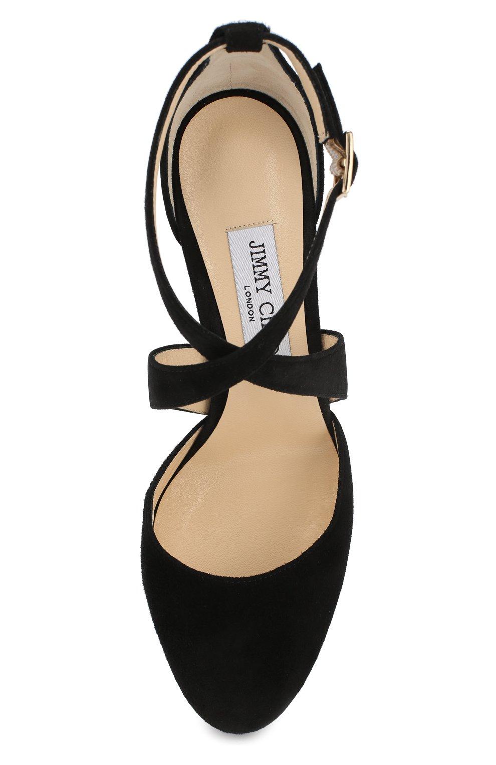 Женские черные замшевые туфли joyce 120 на устойчивом каблуке JIMMY ... 5f0620c4d61