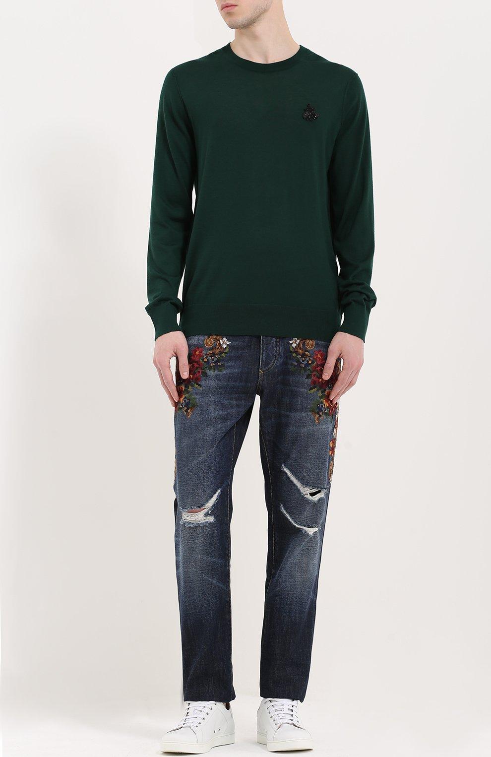 Кашемировый джемпер с вышивкой | Фото №2