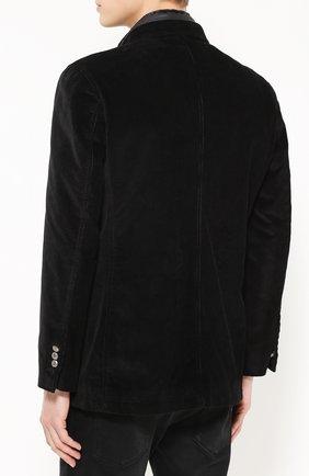 Утепленная куртка из вельвета с вышивкой канителью Dolce & Gabbana черная | Фото №4