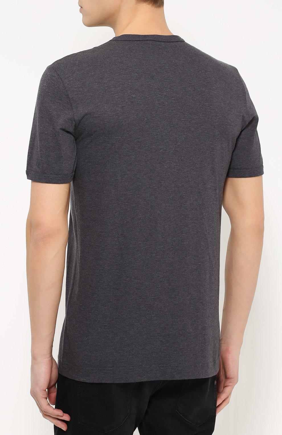 Хлопковая футболка с нашивками   Фото №4