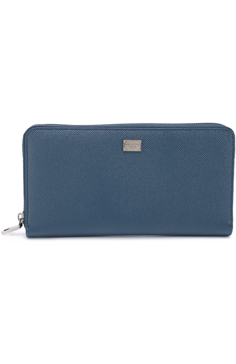 Кожаное портмоне на молнии с отделением для кредитных карт   Фото №1