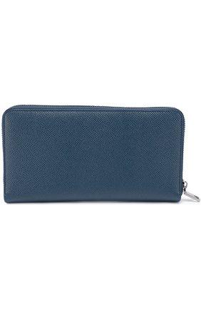 Кожаное портмоне на молнии с отделением для кредитных карт   Фото №2