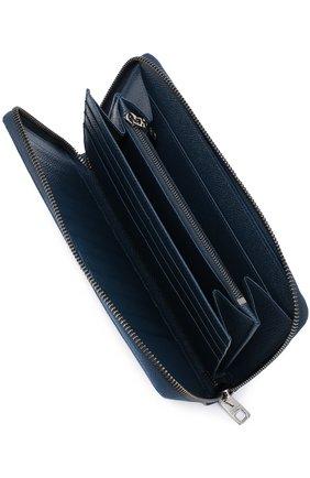 Кожаное портмоне на молнии с отделением для кредитных карт   Фото №3