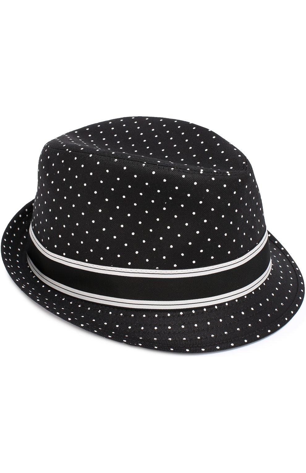 Хлопковая шляпа трилби с узором Polka Dot | Фото №1