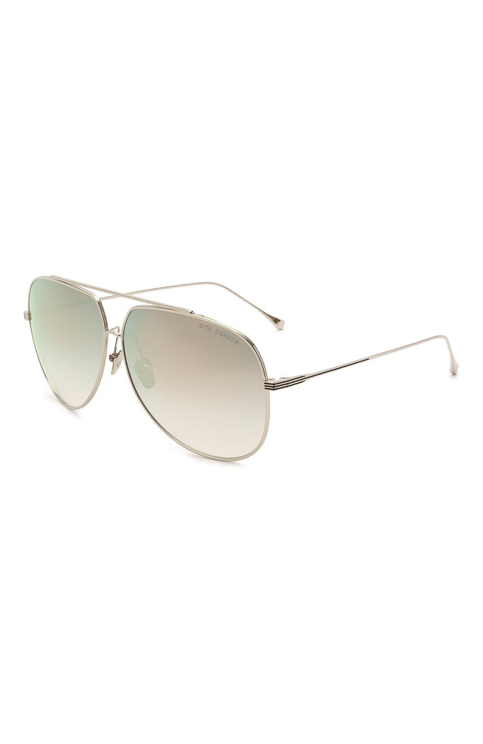 Женские солнцезащитные очки DITA серебряного цвета, арт. C0ND0R/21005H   Фото 1
