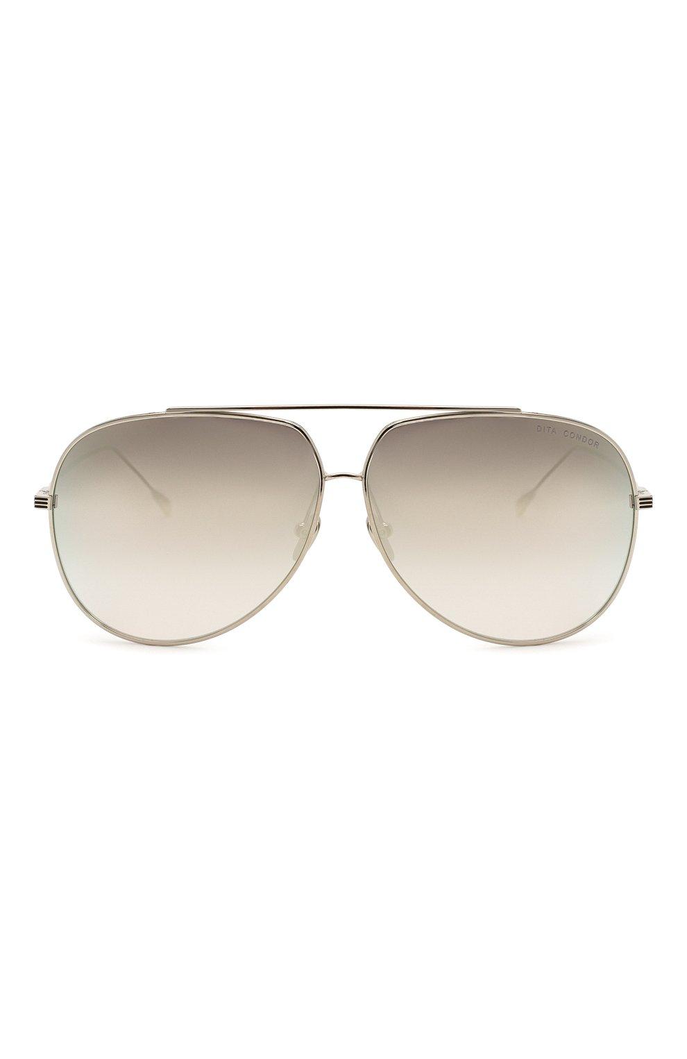 Женские солнцезащитные очки DITA серебряного цвета, арт. C0ND0R/21005H   Фото 3