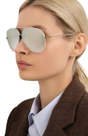 Солнцезащитные очки Dita серебряные | Фото №1