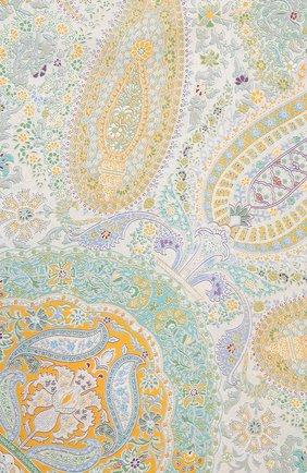 Женский шелковый платок с принтом MICHELE BINDA разноцветного цвета, арт. 170026245 | Фото 2