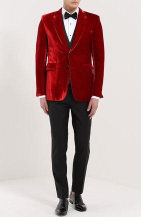 Жилет с вышивкой и шелковой подкладкой Dolce & Gabbana темно-серый | Фото №2